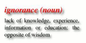 Ignorance 3